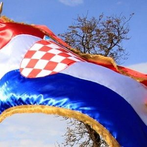Službena Hrvatska svečana zastava 75x150 cm